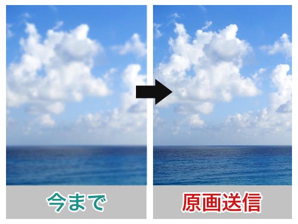 画像を原画のまま送信できます